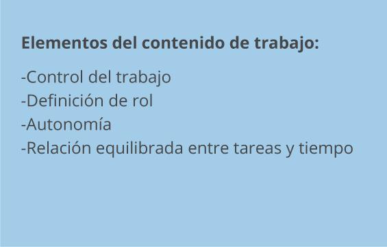 Elementos del contenido del trabajo