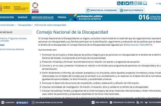 Consejo Nacional de la Discapacidad