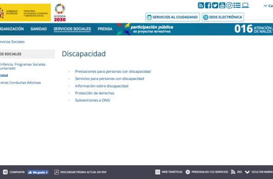 Discapacidad (Ministerio de Sanidad, Consumo y Bienestar Social)